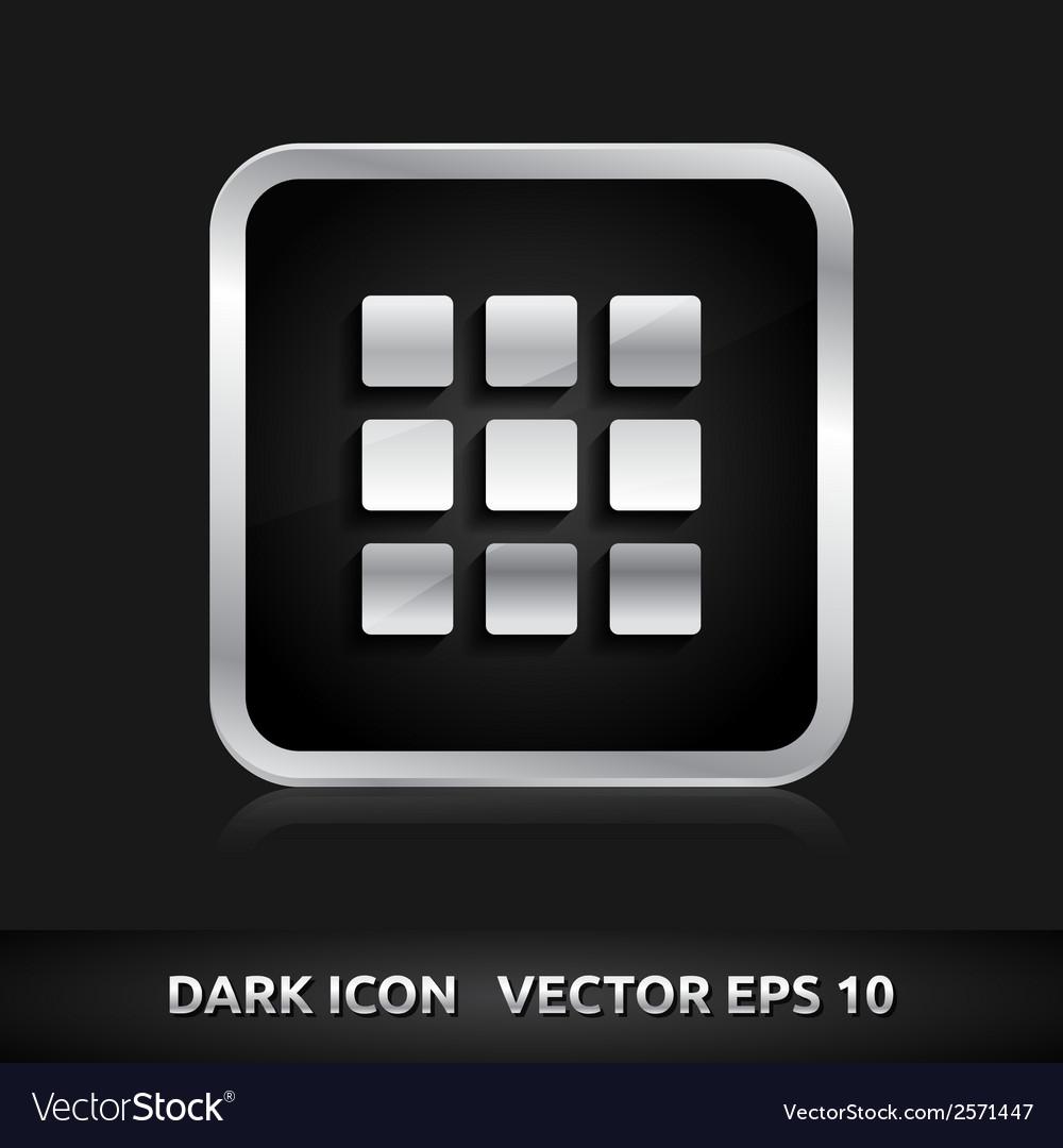 Enter home default icon silver metal vector | Price: 1 Credit (USD $1)