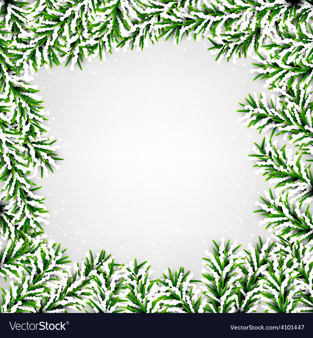 Fir christmas frame vector   Price: 1 Credit (USD $1)