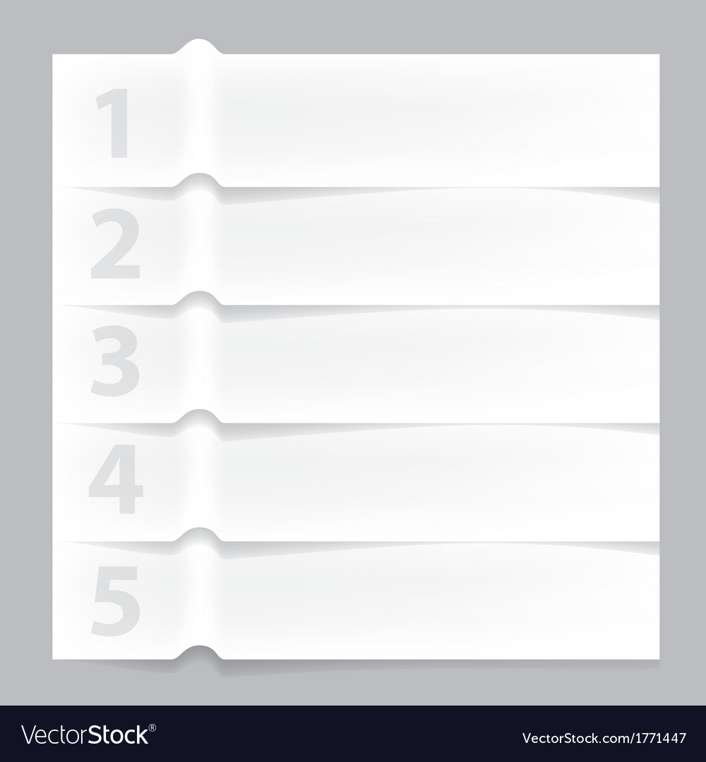 Paper infographic banner vector | Price: 1 Credit (USD $1)