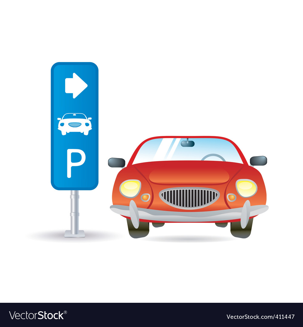 Parking icon vector | Price: 1 Credit (USD $1)