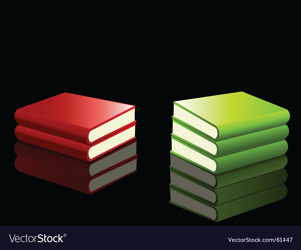 Reflected books vector | Price: 1 Credit (USD $1)