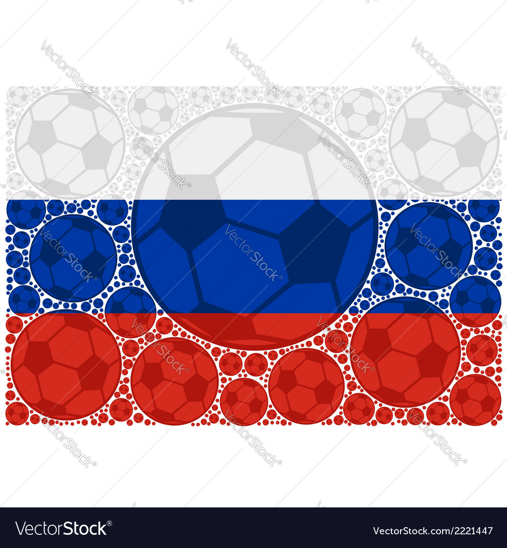 Russia soccer balls vector | Price: 1 Credit (USD $1)