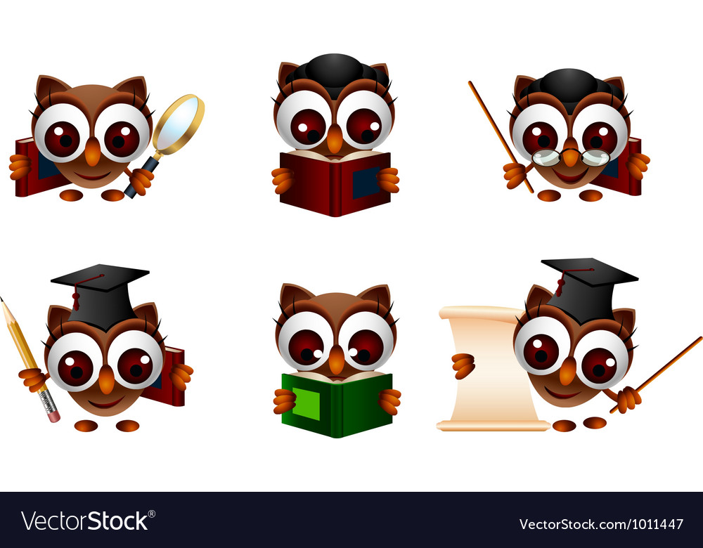 Various of cute owl vector | Price: 3 Credit (USD $3)