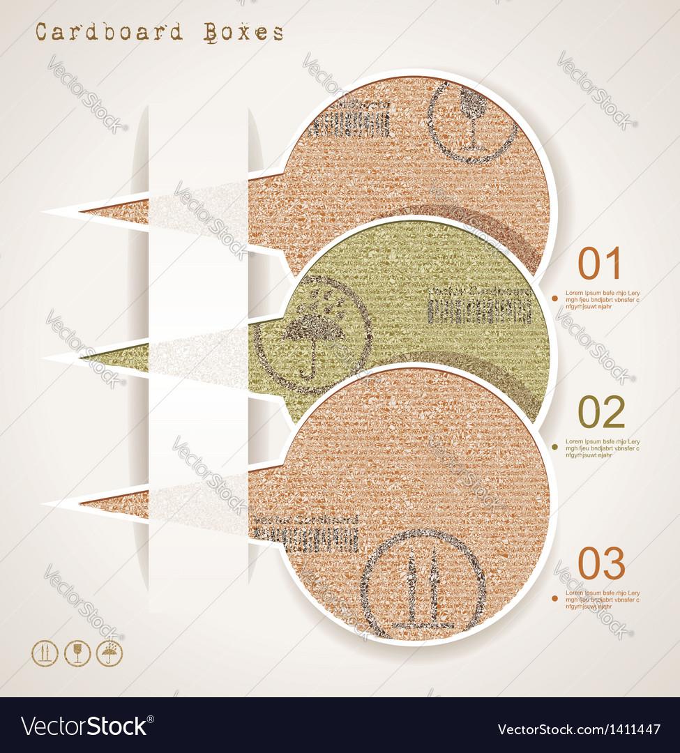 Vintage old paper speech bubbles vector | Price: 1 Credit (USD $1)