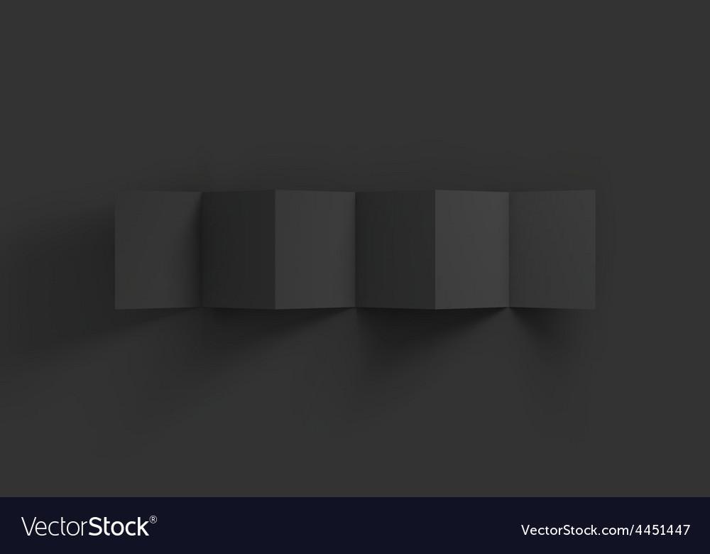 Zigzag black 6 page brochure mockup template vector | Price: 1 Credit (USD $1)
