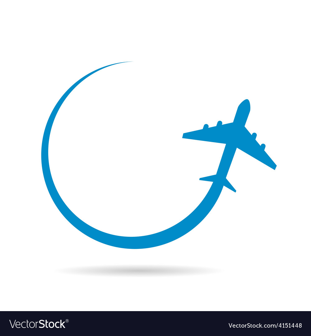 Airplane blue vector | Price: 1 Credit (USD $1)