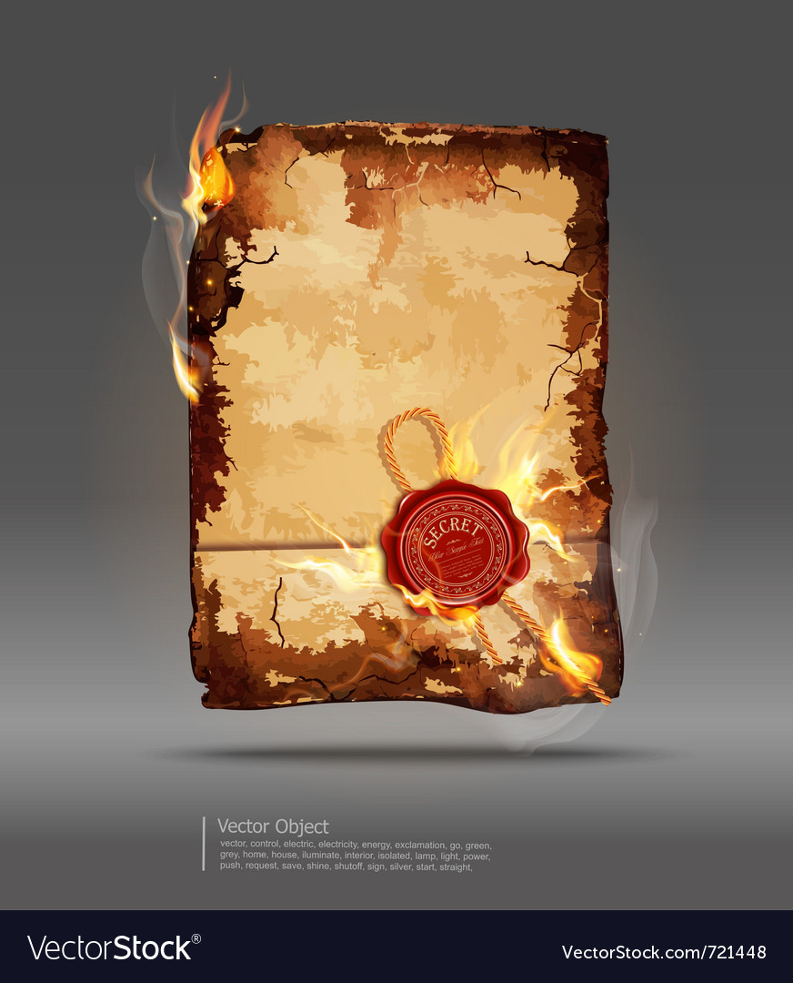 Burning parchment vector | Price: 3 Credit (USD $3)