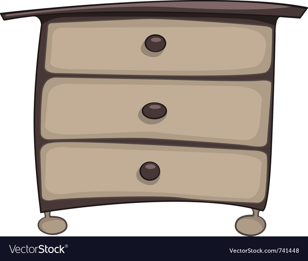 Cartoon home furniture chest of drawers vector   Price: 1 Credit (USD $1)