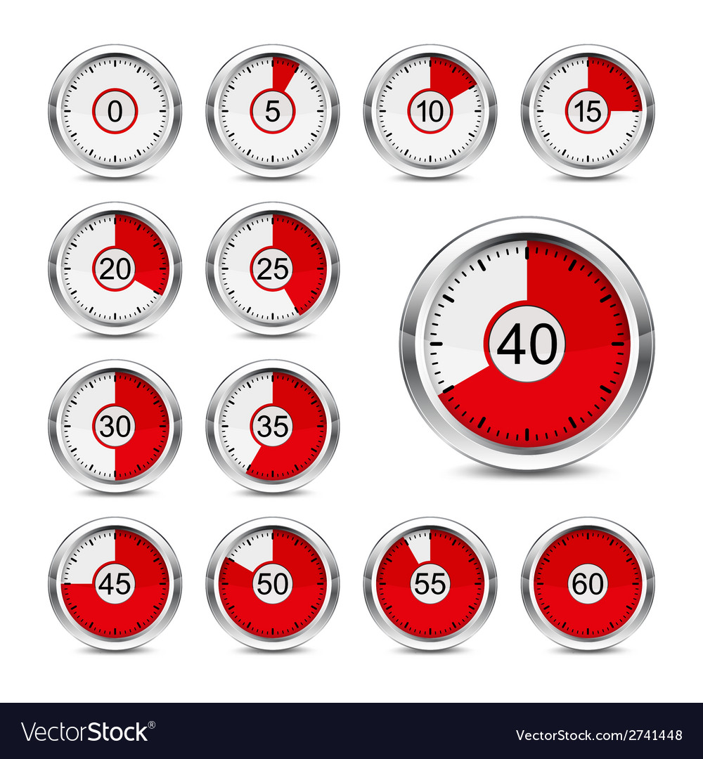 Icons timer vector | Price: 1 Credit (USD $1)