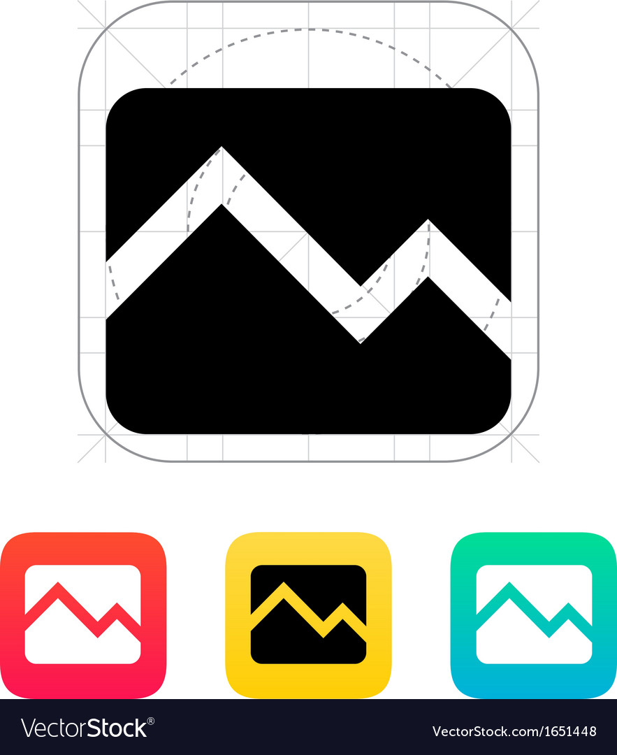 Line chart down icon vector | Price: 1 Credit (USD $1)