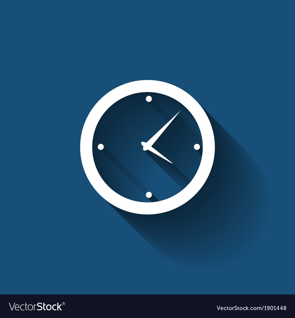Modern flat time management icon for web and vector | Price: 1 Credit (USD $1)