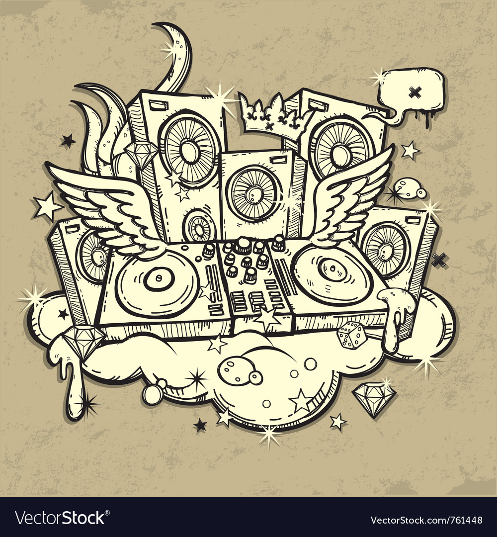 Of music spirit vector | Price: 1 Credit (USD $1)