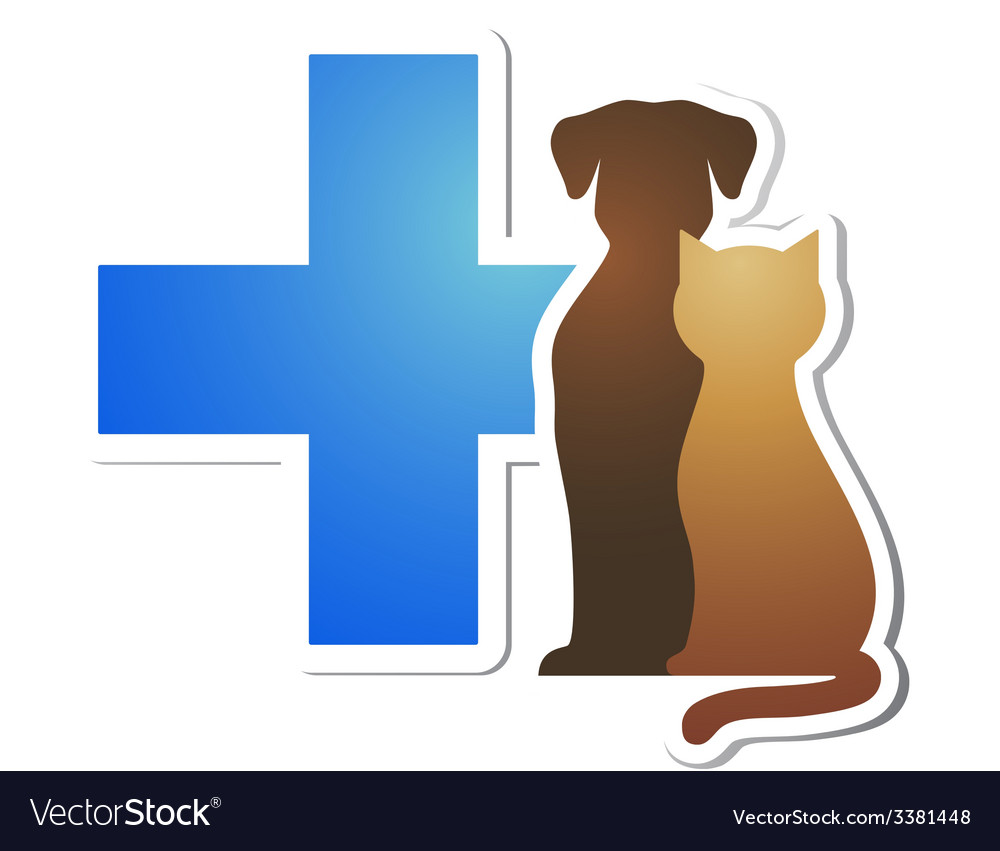 Veterinary cross and pets vector | Price: 1 Credit (USD $1)