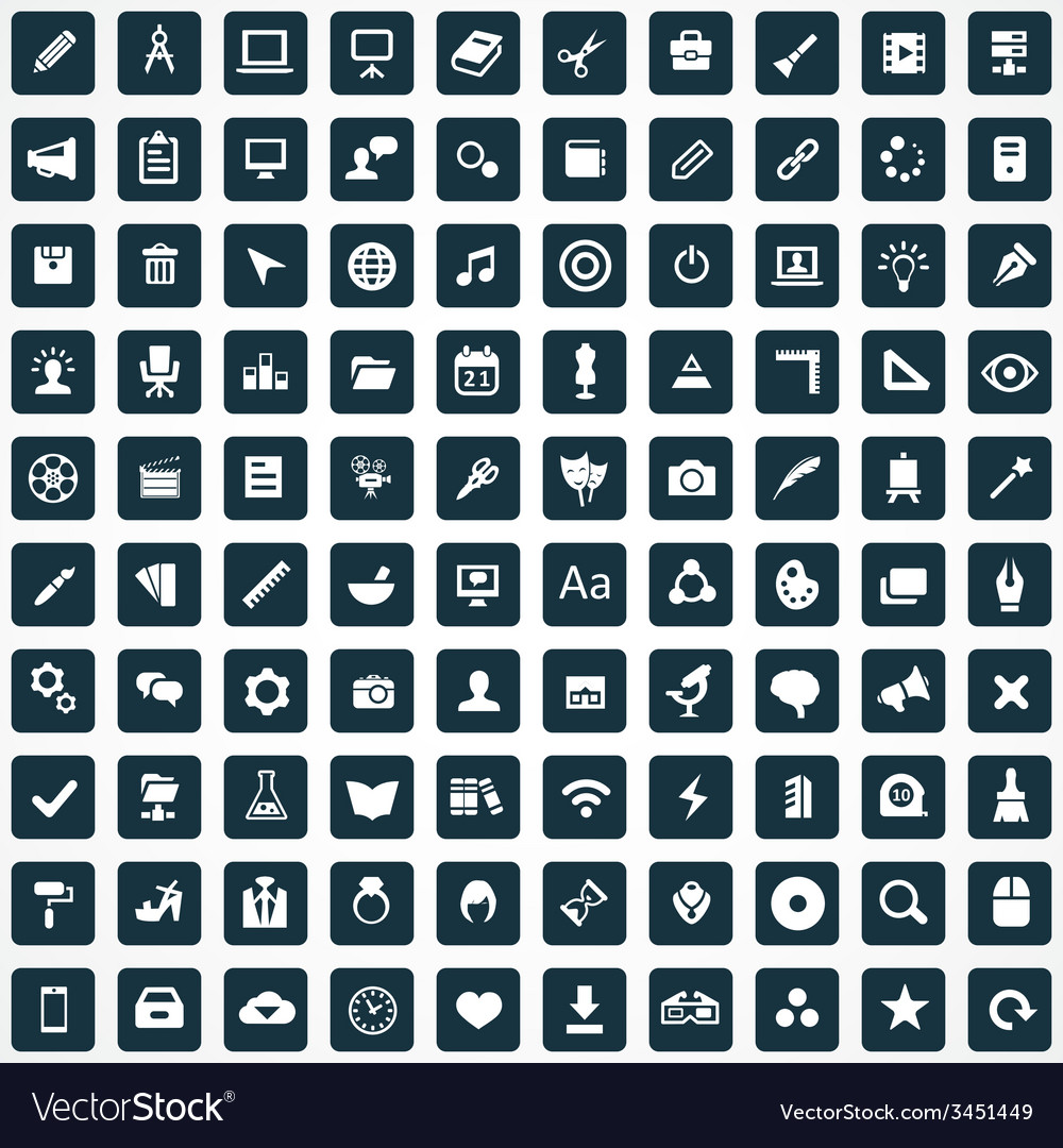 100 art design icons vector | Price: 1 Credit (USD $1)