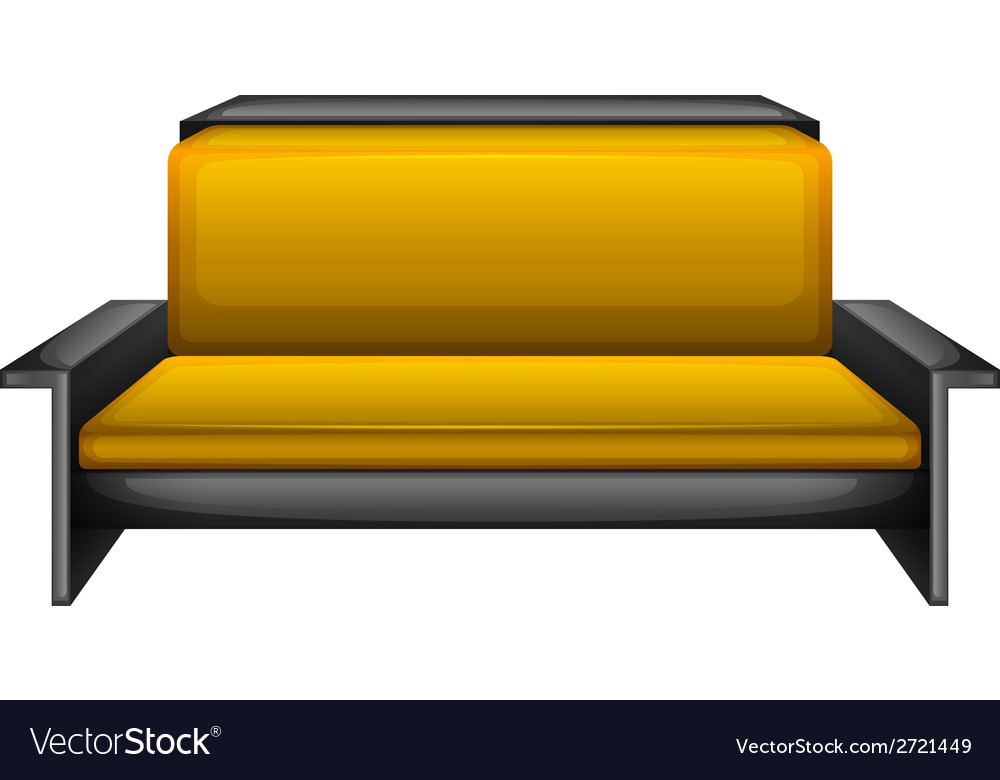 An elegant sofa vector | Price: 1 Credit (USD $1)