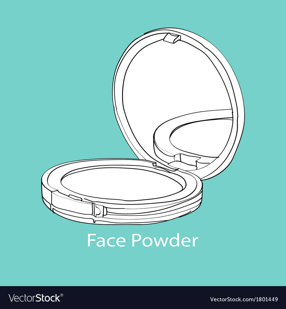 Face powder vector | Price: 1 Credit (USD $1)