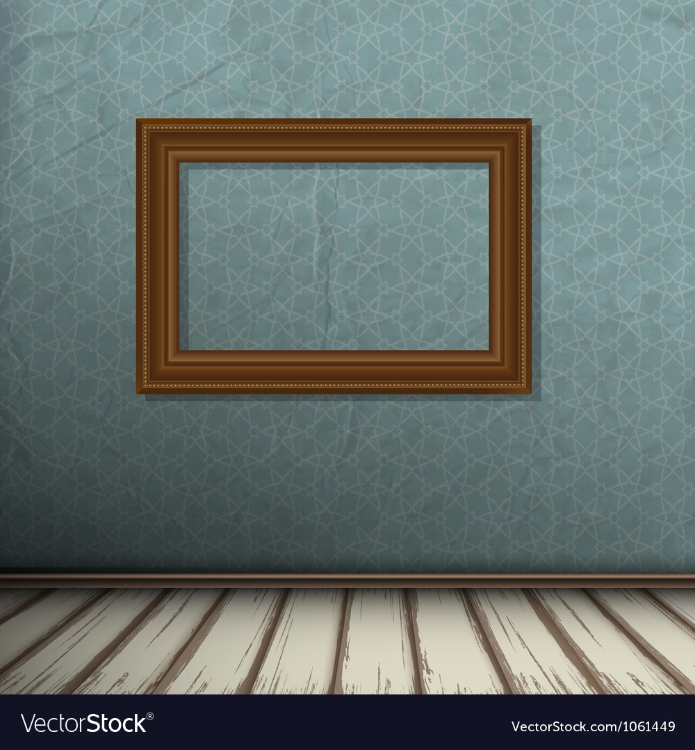 Interior of vintage room with frame on wall vector | Price: 1 Credit (USD $1)