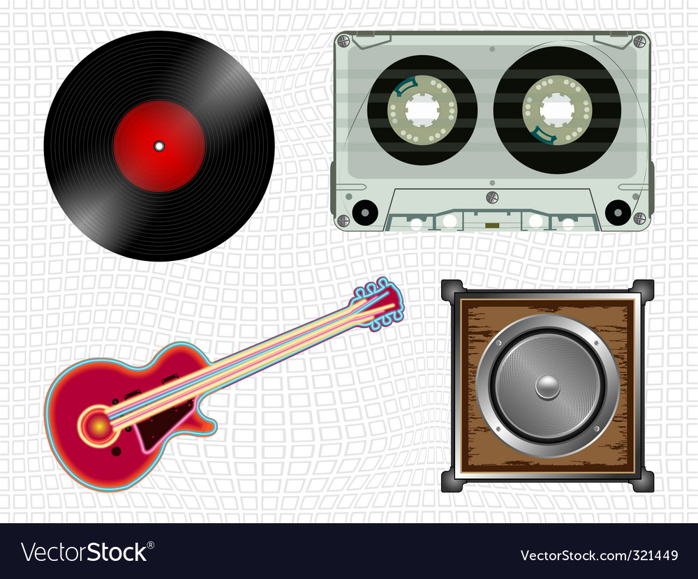 Music icons collection vector | Price: 1 Credit (USD $1)