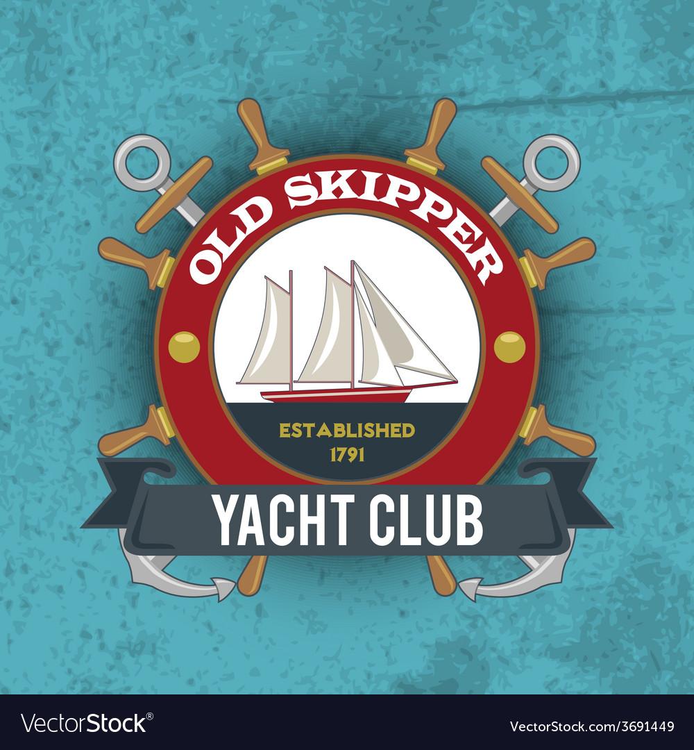 Nautical emblem vintage vector | Price: 1 Credit (USD $1)