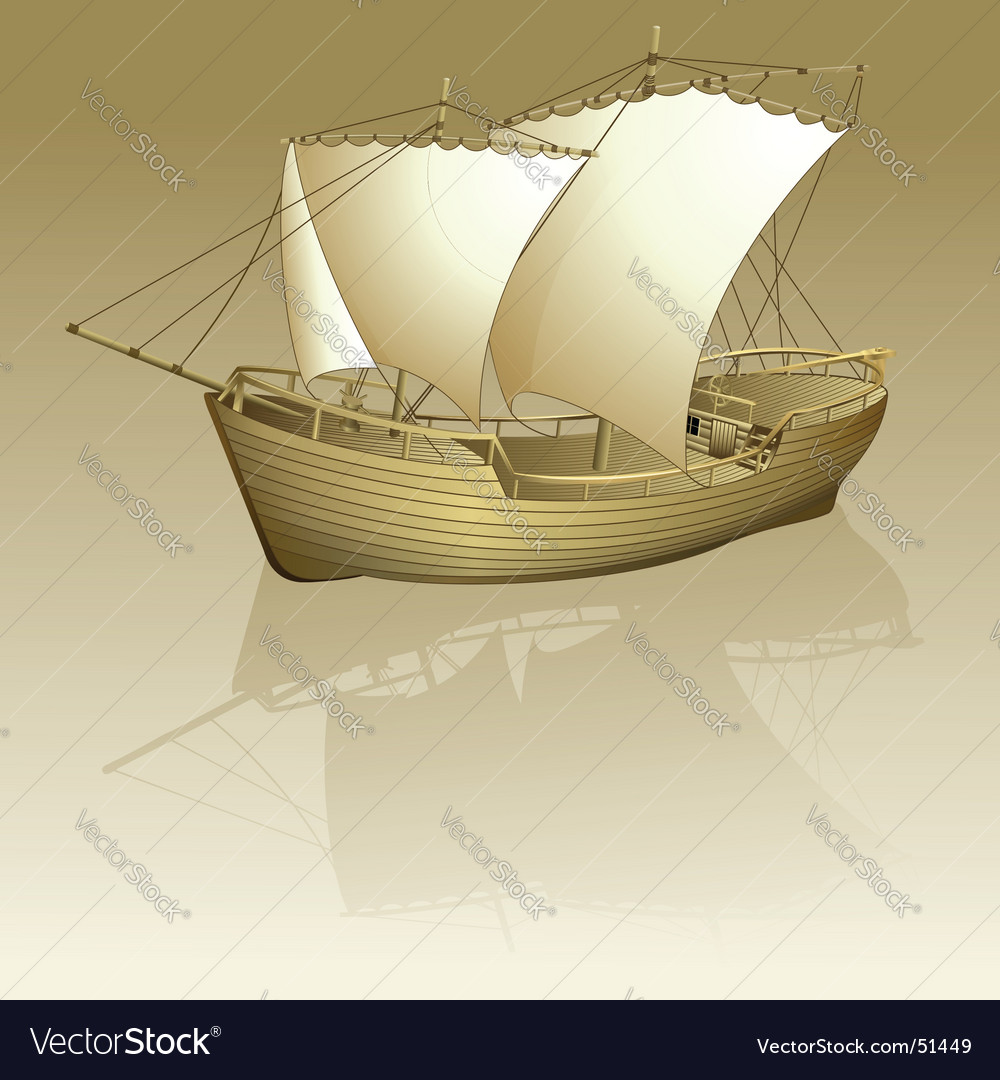 Old ship vector | Price: 3 Credit (USD $3)