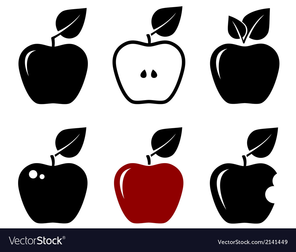 Set of apples vector | Price: 1 Credit (USD $1)