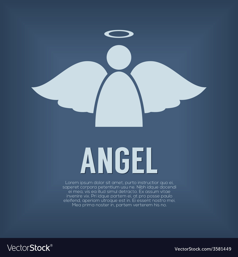 Single angel symbol vector | Price: 1 Credit (USD $1)