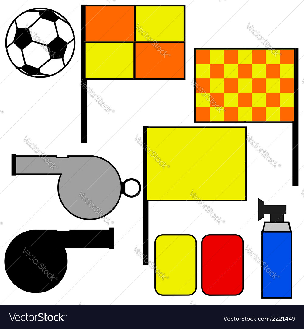 Soccer referee tools vector | Price: 1 Credit (USD $1)