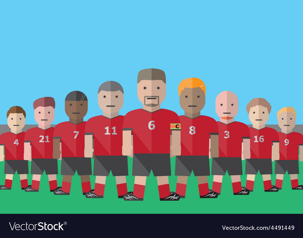 Soccer team captain vector | Price: 1 Credit (USD $1)