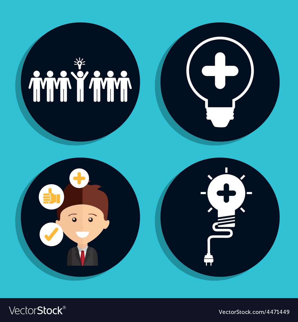 Think icons vector | Price: 1 Credit (USD $1)
