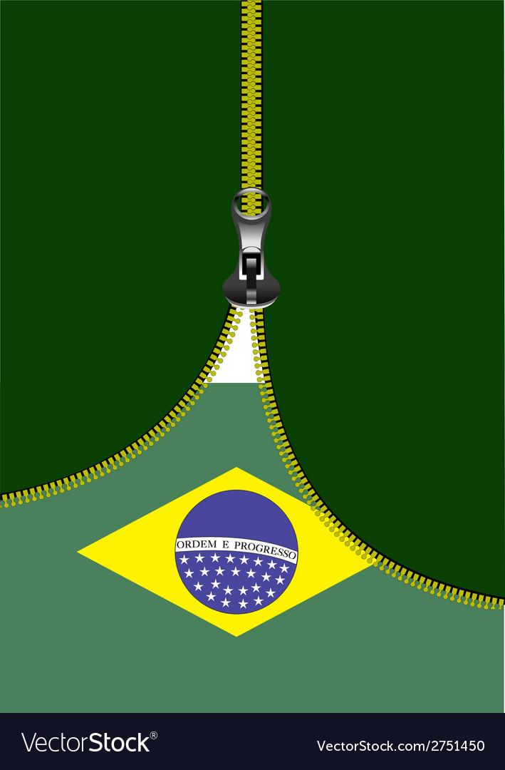 Al 0722 zipper brazilian flag vector | Price: 1 Credit (USD $1)