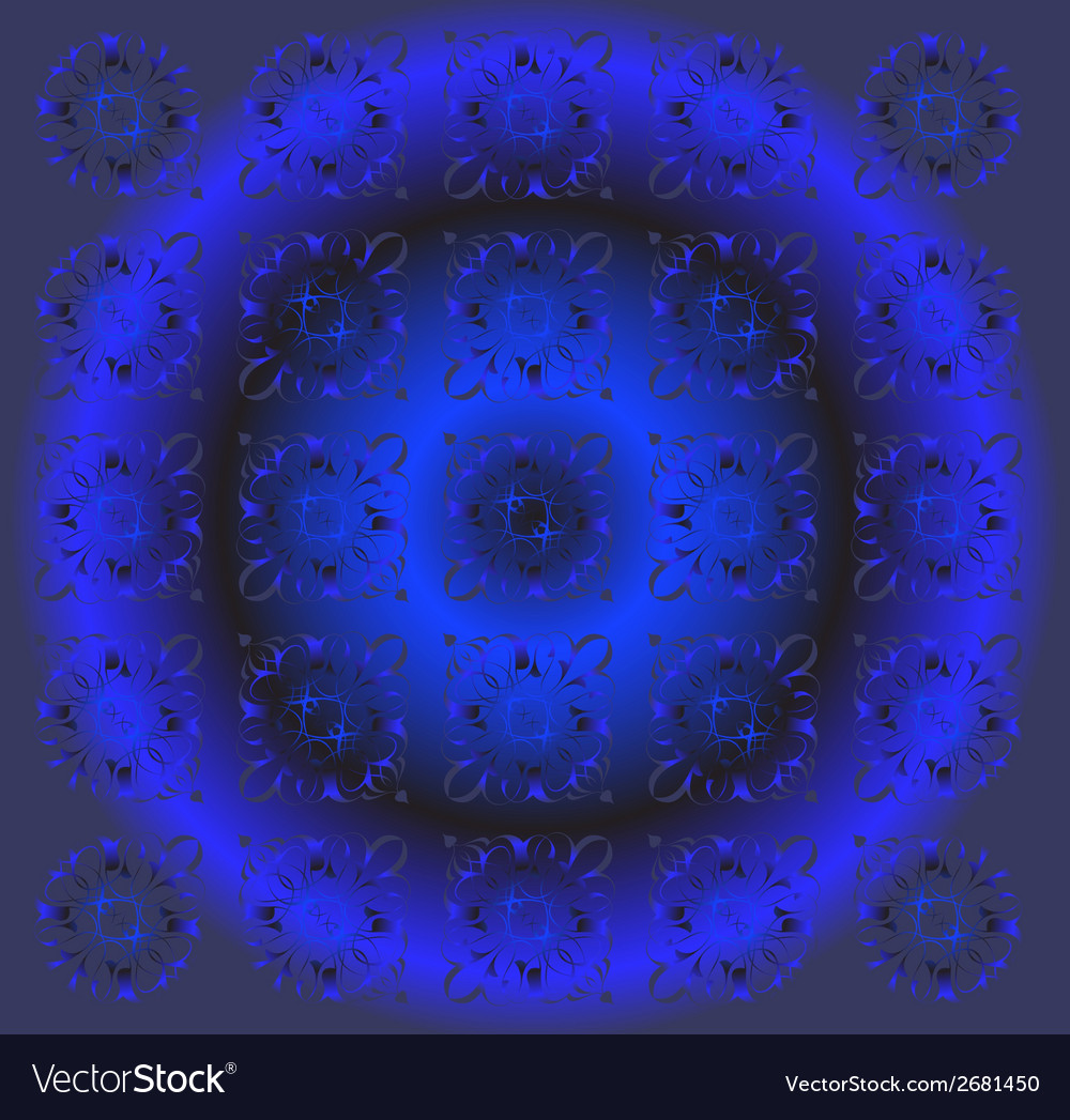 Beautiful circle dark blue floral background vector | Price: 1 Credit (USD $1)