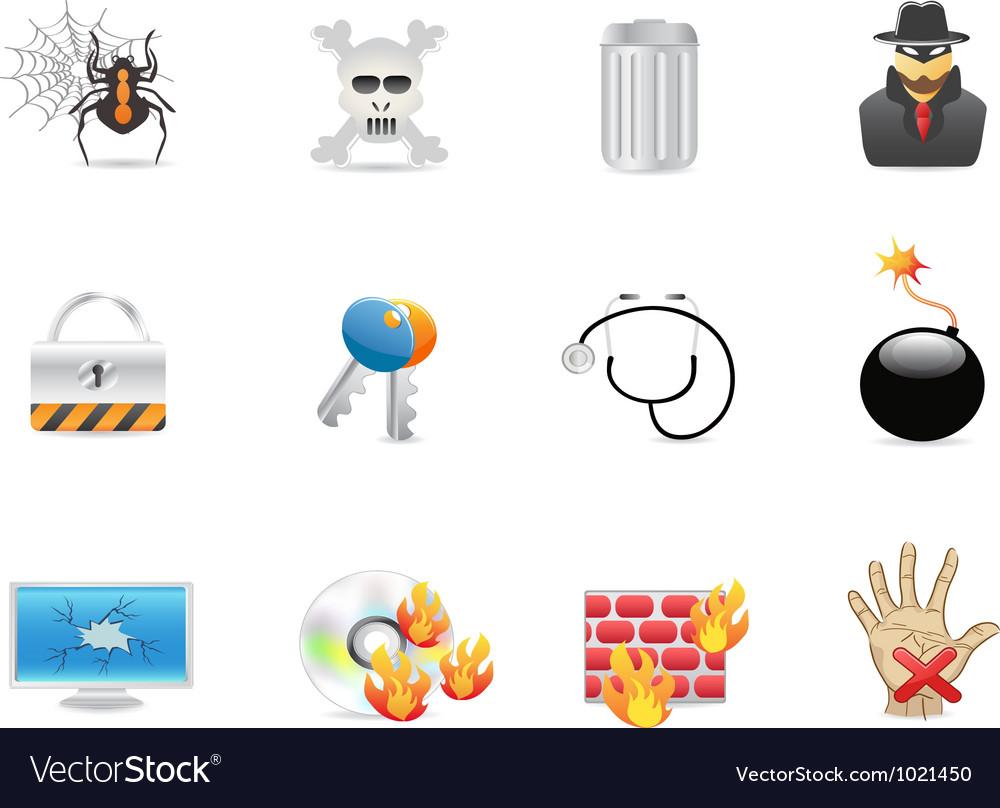 Computer security icon vector | Price: 1 Credit (USD $1)