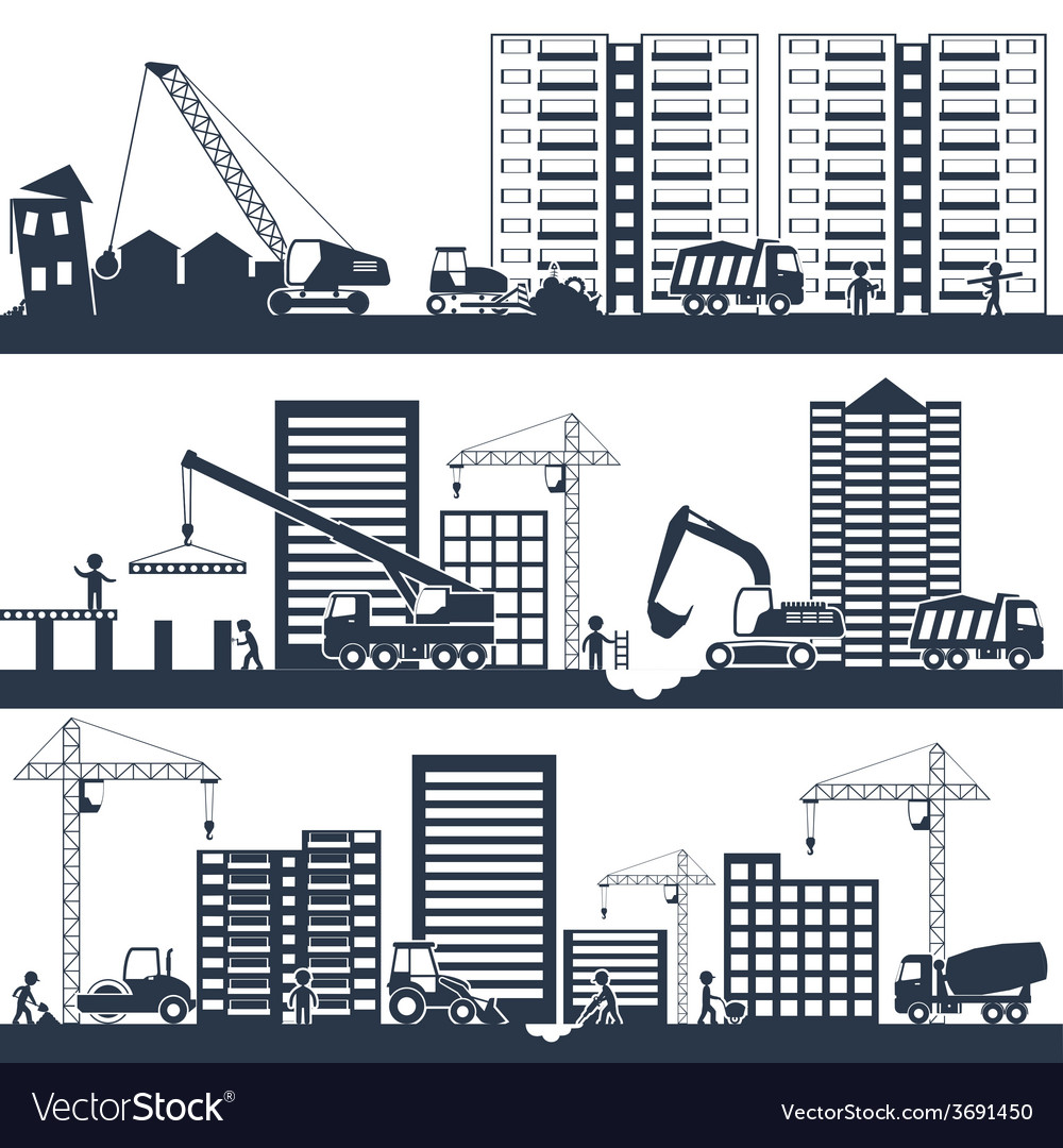 Construction composition black vector | Price: 1 Credit (USD $1)