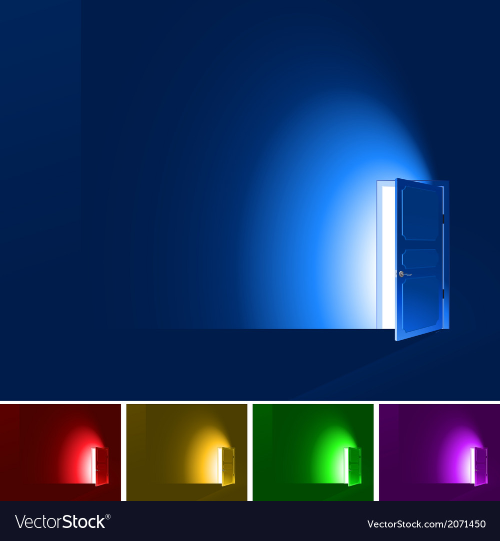 Light through a door vector | Price: 1 Credit (USD $1)