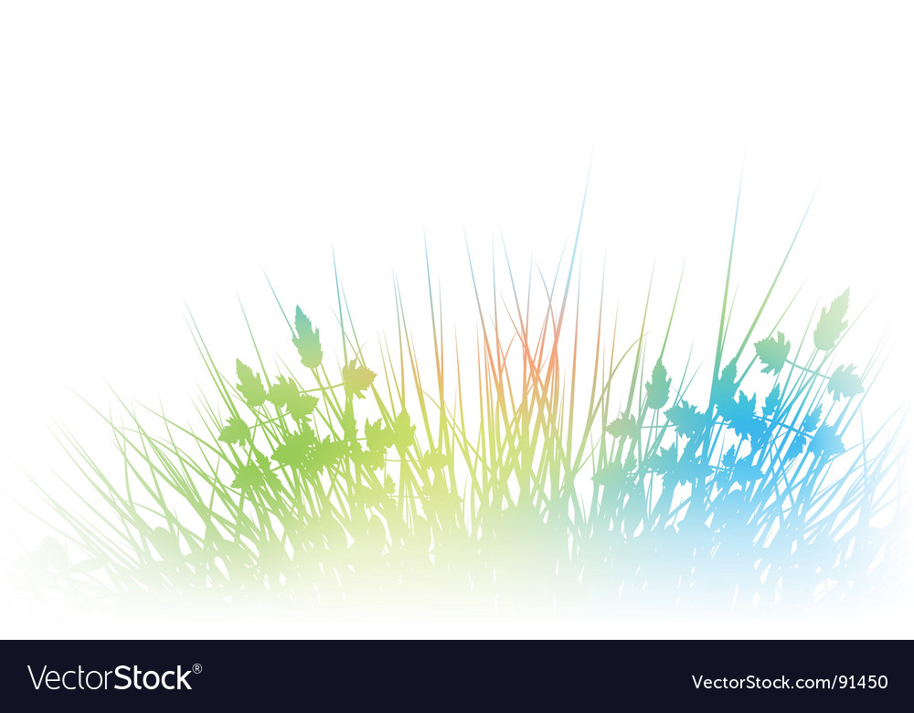 Rainbow grass vector | Price: 1 Credit (USD $1)