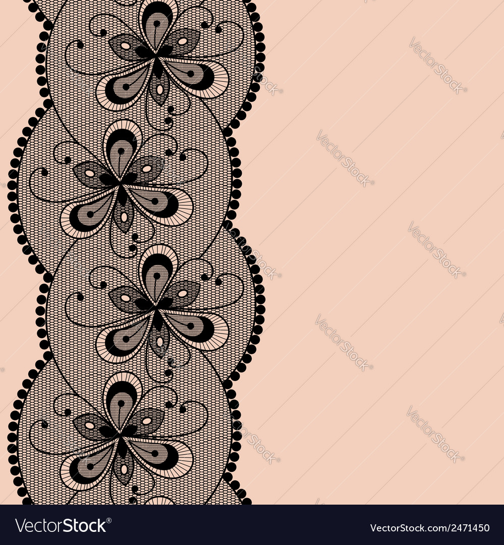Seamless floral lacy strip vector | Price: 1 Credit (USD $1)