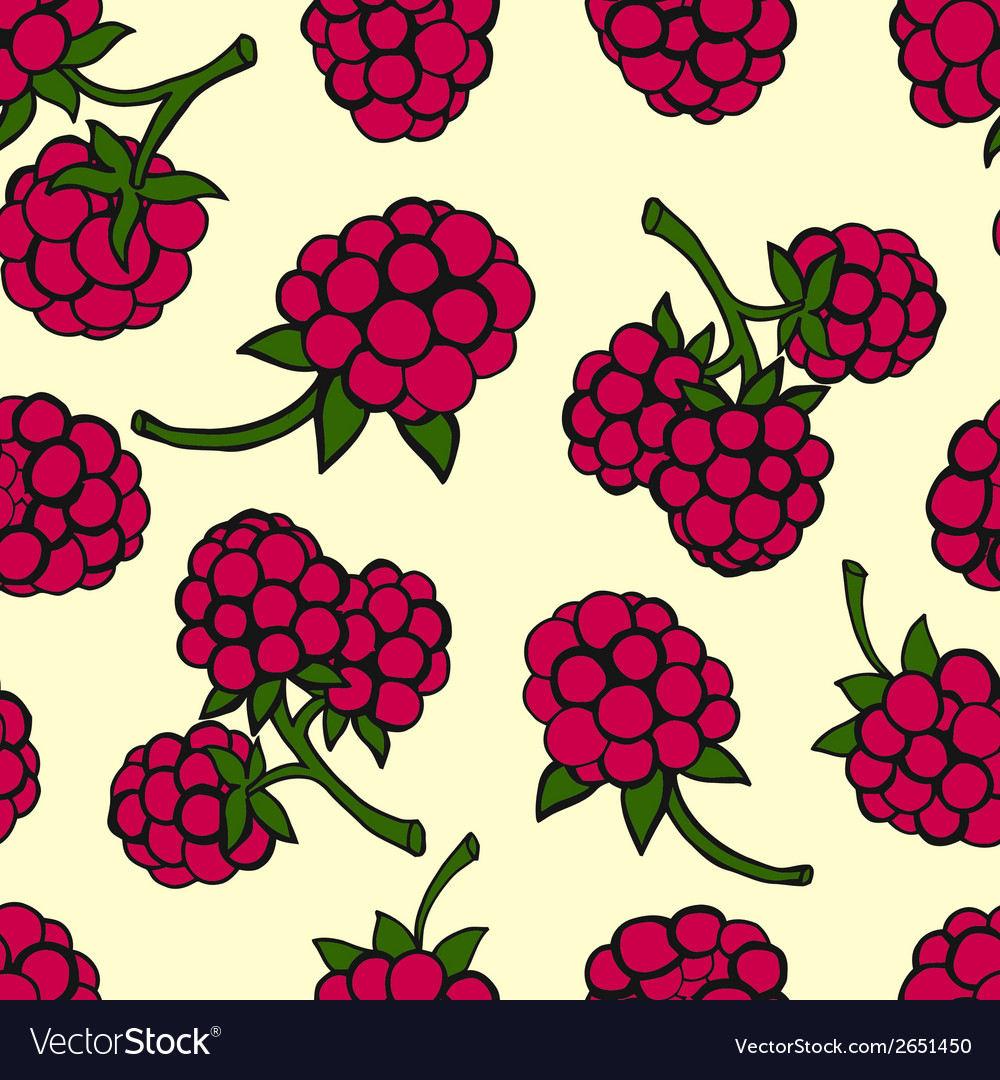 Seamless pattern of berries vector   Price: 1 Credit (USD $1)