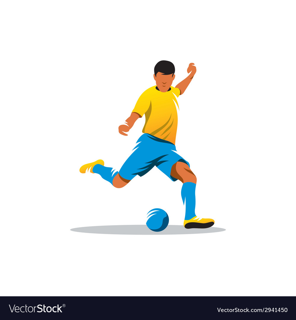 Soccer player sign vector | Price: 1 Credit (USD $1)