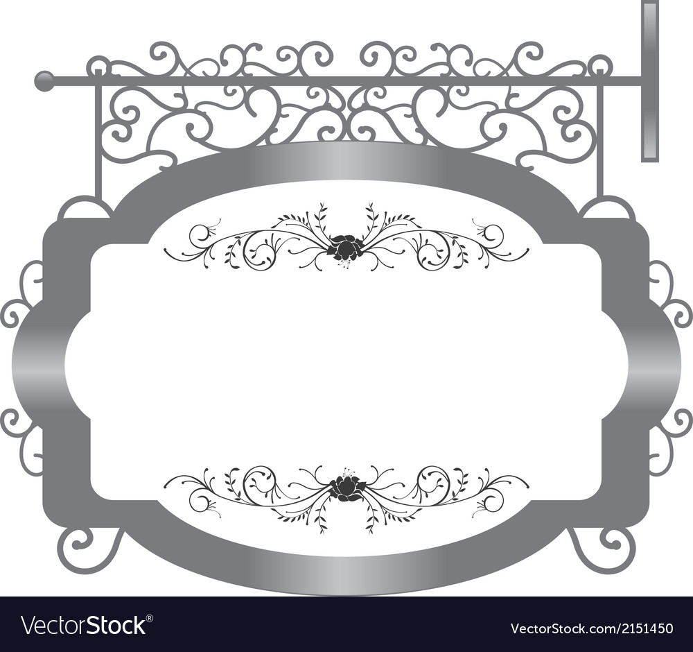 Vintage signboard vector | Price: 1 Credit (USD $1)