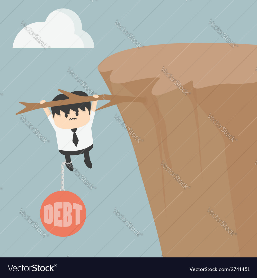Business man with debt vector   Price: 1 Credit (USD $1)