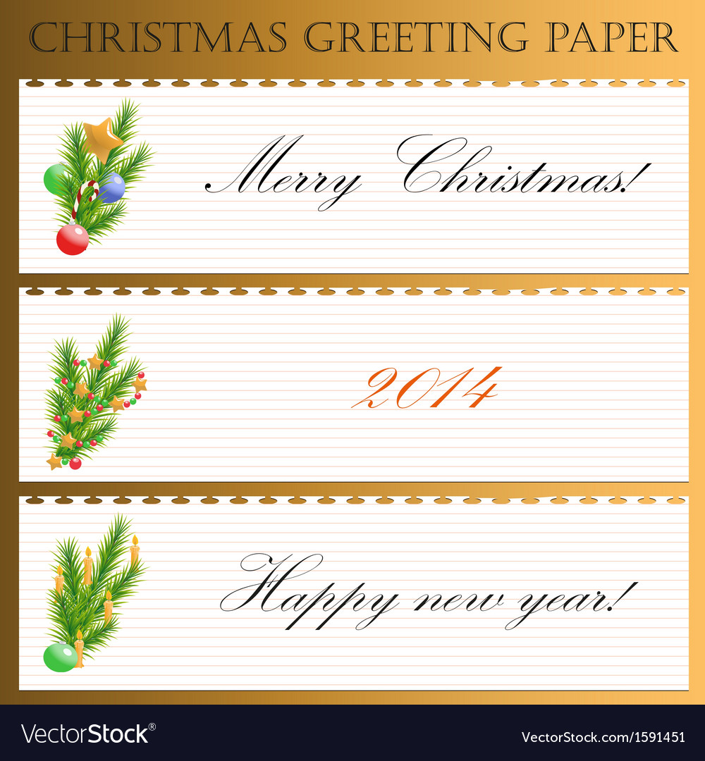Christmas greeting paper with text vector | Price: 1 Credit (USD $1)