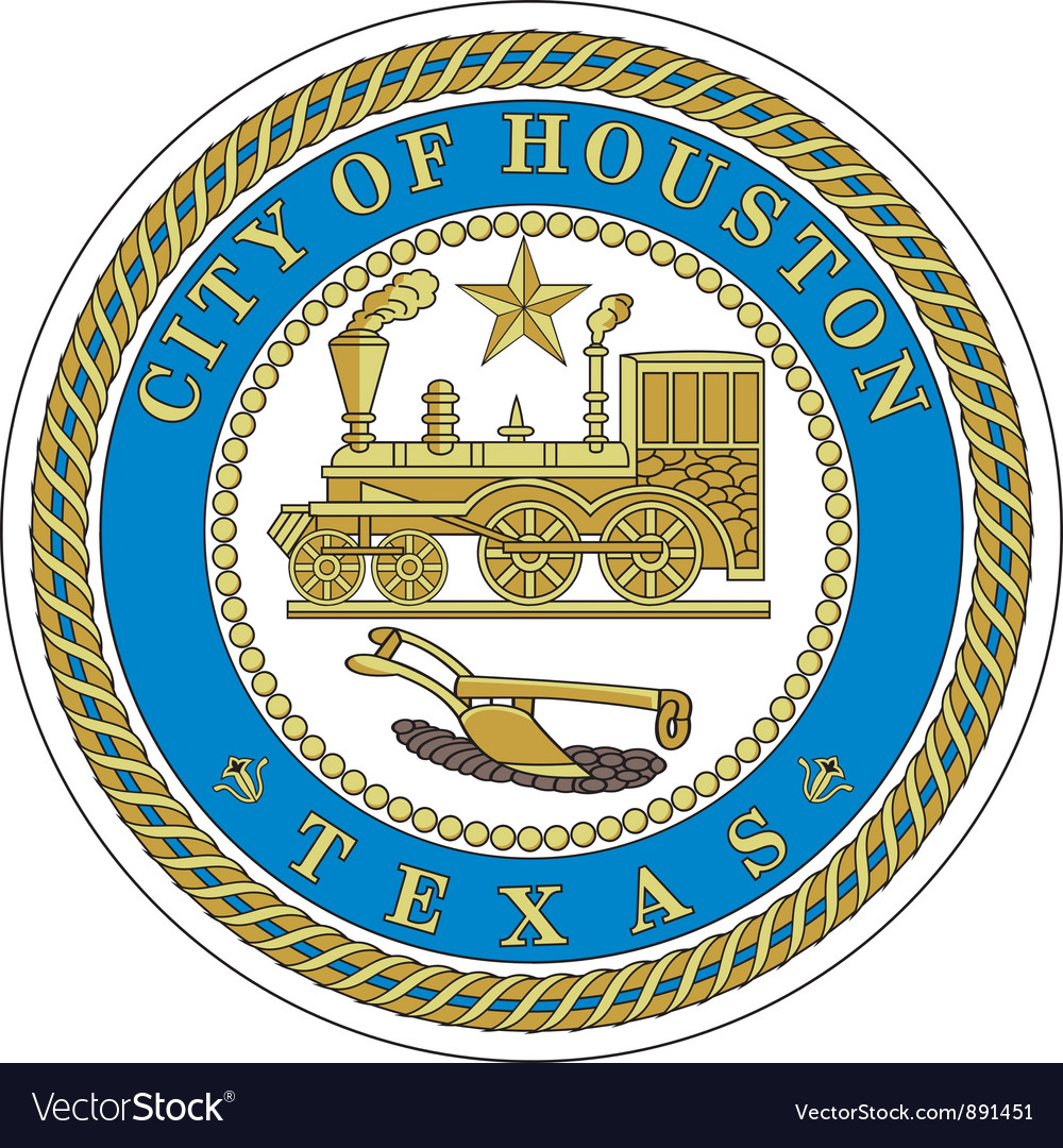 Houston city seal vector | Price: 1 Credit (USD $1)