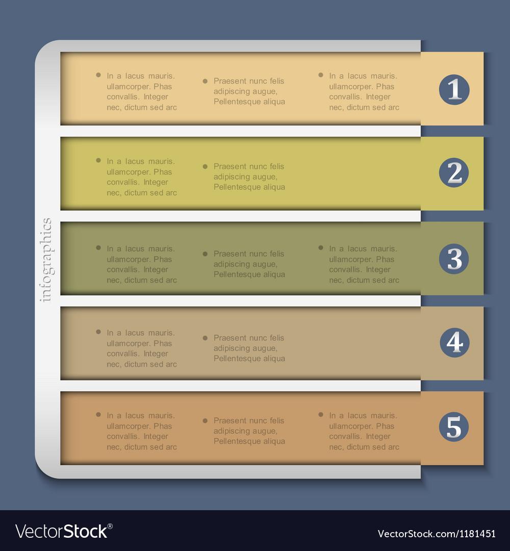 Retro design template for infographics vector | Price: 1 Credit (USD $1)