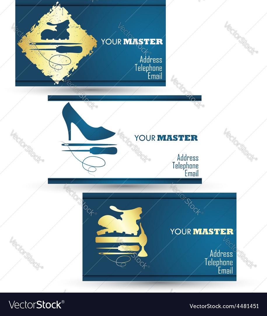 Shoe repair business card master vector | Price: 1 Credit (USD $1)