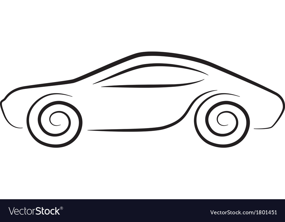 Silhouette of conceptual car vector | Price: 1 Credit (USD $1)