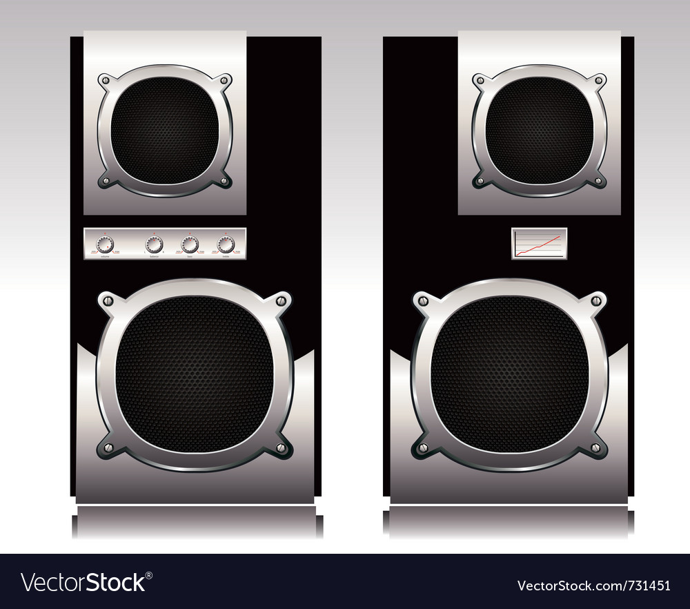 Stereo speakers vector | Price: 1 Credit (USD $1)