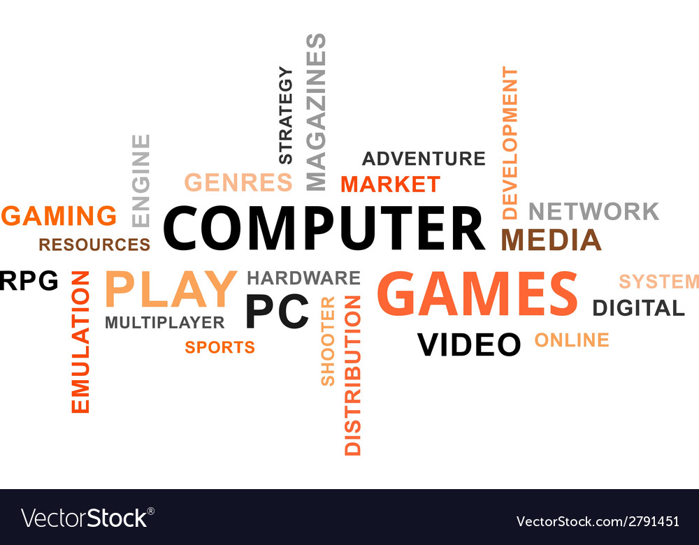 Word cloud computer games vector | Price: 1 Credit (USD $1)