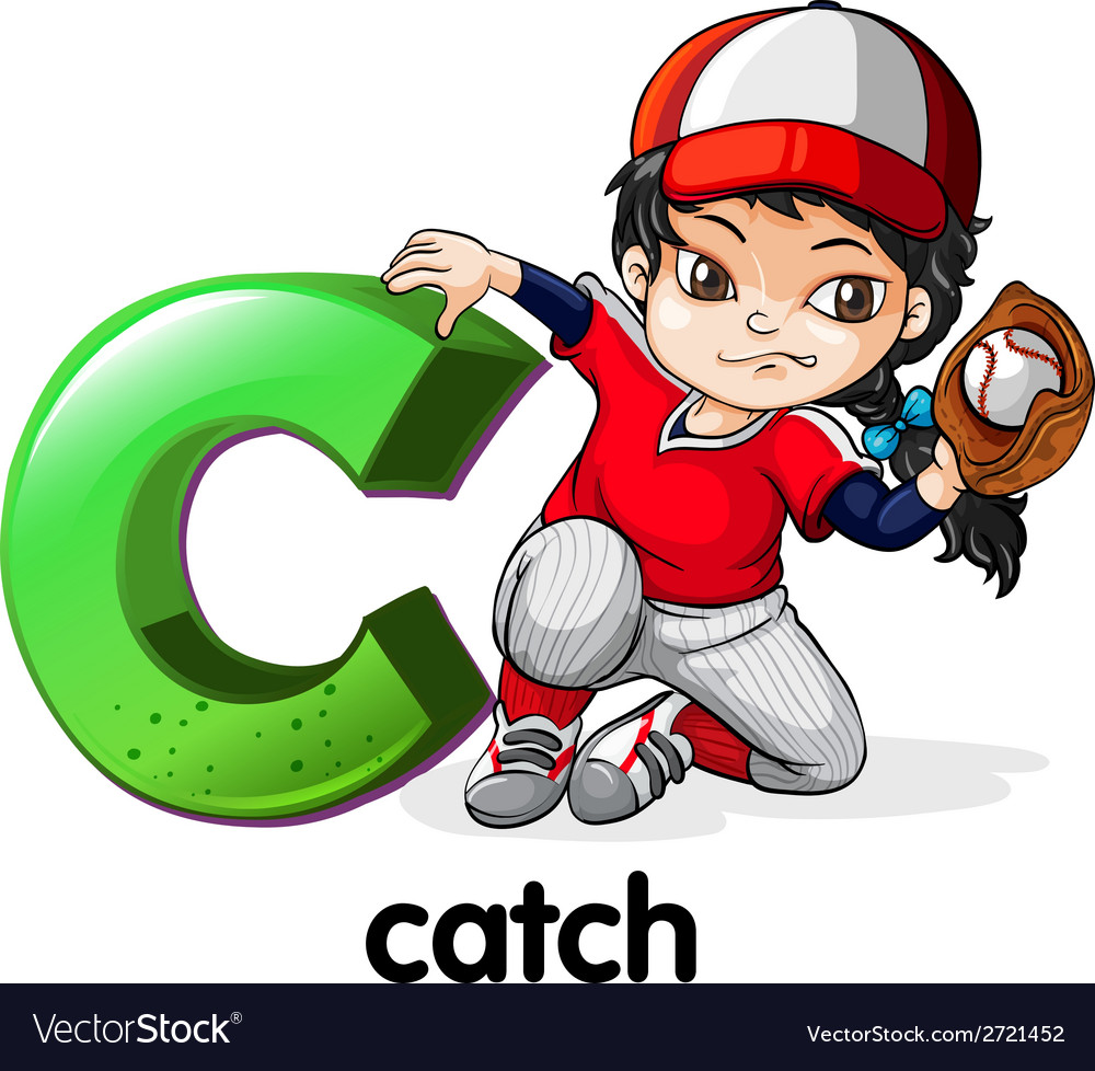 A letter c for catch vector | Price: 1 Credit (USD $1)