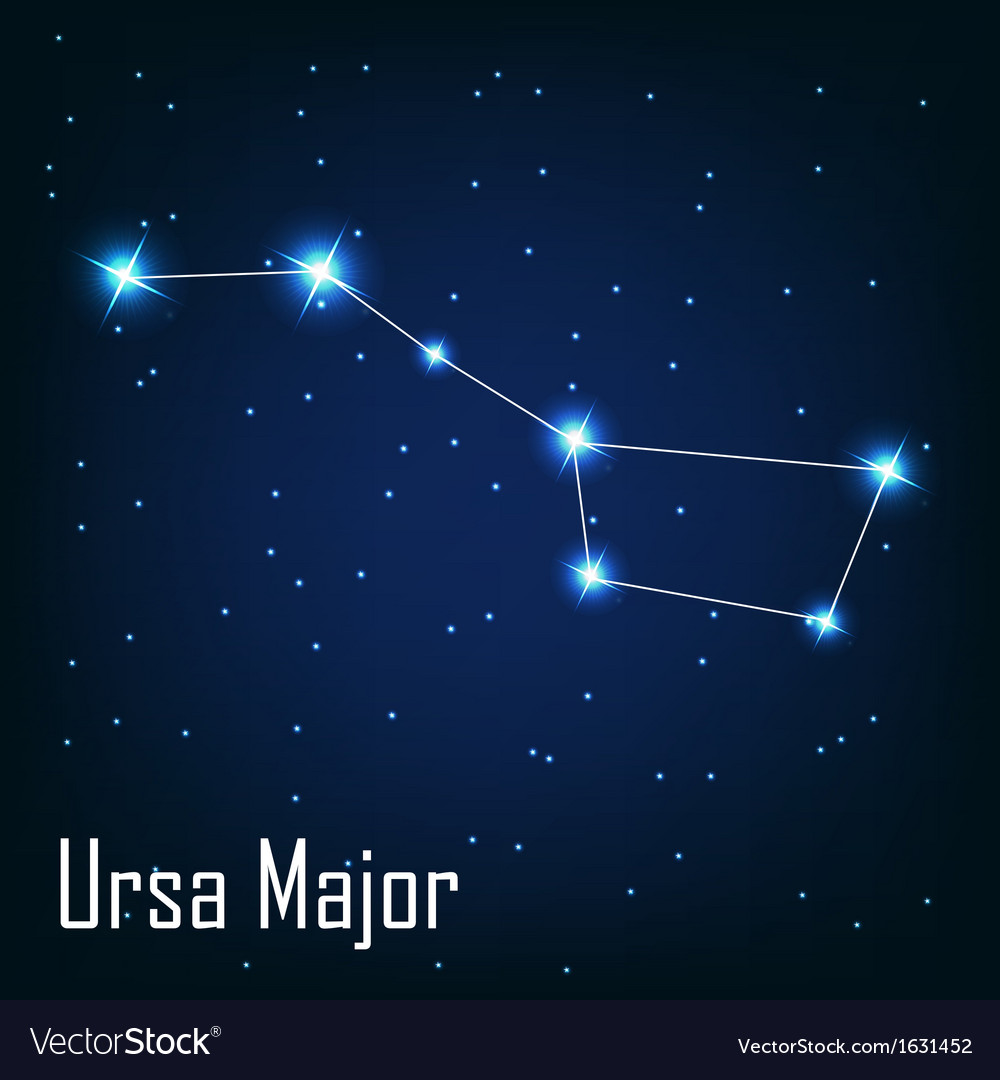 The constellation ursa major star in the night vector | Price: 1 Credit (USD $1)