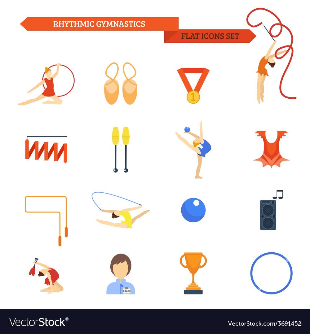 Gymnastics icon flat vector | Price: 1 Credit (USD $1)